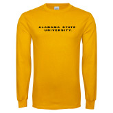 Gold Long Sleeve T Shirt-Alabama State University