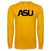 Gold Long Sleeve T Shirt-ASU