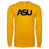 Gold Long Sleeve T Shirt-ASU
