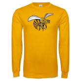 Gold Long Sleeve T Shirt-Hornet