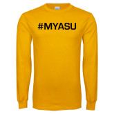 Gold Long Sleeve T Shirt-My ASU