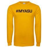 Gold Long Sleeve T Shirt-My ASU