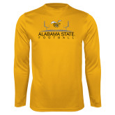 Performance Gold Longsleeve Shirt-Football Field