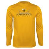 Syntrel Performance Gold Longsleeve Shirt-Football Field