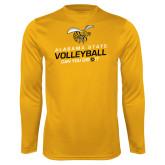 Syntrel Performance Gold Longsleeve Shirt-Volleyball