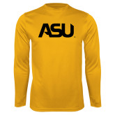 Performance Gold Longsleeve Shirt-ASU