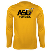 Performance Gold Longsleeve Shirt-Football