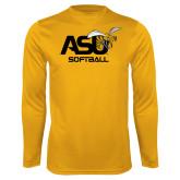 Syntrel Performance Gold Longsleeve Shirt-Softball