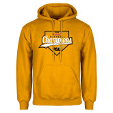 Gold Fleece Hoodie-2016 SWAC Champions Softball