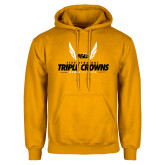 Gold Fleece Hood-Five Straight Triple Crowns Womens Track 2016