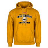 Gold Fleece Hoodie-Four Straight SWAC Championships Womens Golf 2016