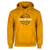 Gold Fleece Hoodie-Back-to-Back SWAC Champions Womens Basketball 2016