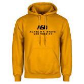 Gold Fleece Hoodie-ASU Alabama State University