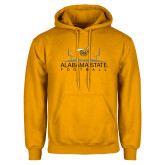 Gold Fleece Hoodie-Football Field
