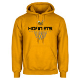 Gold Fleece Hoodie-Basketball Geometric Net
