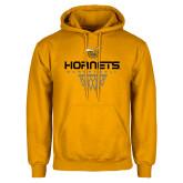 Gold Fleece Hoodie-Basketball Geometric Net