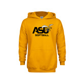 Youth Gold Fleece Hoodie-Softball