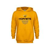 Youth Gold Fleece Hoodie-Basketball Geometric Net