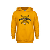 Youth Gold Fleece Hoodie-Baseball Seams