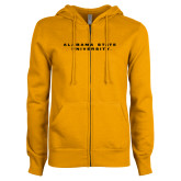 ENZA Ladies Gold Fleece Full Zip Hoodie-Alabama State University