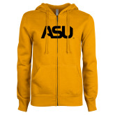 ENZA Ladies Gold Fleece Full Zip Hoodie-ASU