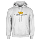 White Fleece Hoodie-ASU Alabama State University