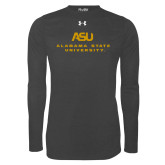 Under Armour Carbon Heather Long Sleeve Tech Tee-ASU Alabama State University