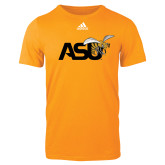 Adidas Gold Logo T Shirt-Official Logo