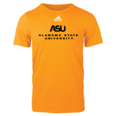 Adidas Gold Logo T Shirt-ASU Alabama State University
