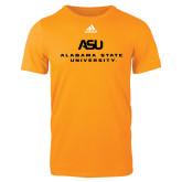 Adidas Gold Logo T Shirt-ASU Alabama State University