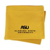 Gold Sweatshirt Blanket-ASU Alabama State University