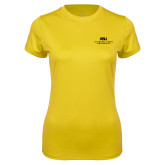 Ladies Syntrel Performance Gold Tee-ASU Alabama State University