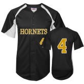 Replica Black Adult Baseball Jersey-#4