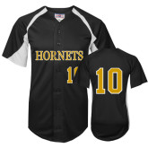 Replica Black Adult Baseball Jersey-#10