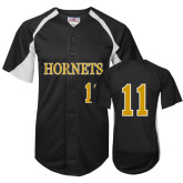 Replica Black Adult Baseball Jersey-#11