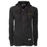 Ladies Under Armour Black Varsity Full Zip Hoodie-Alabama State University