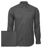 Red House Dark Charcoal Diamond Dobby Long Sleeve Shirt-Alabama State University