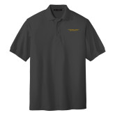Charcoal Easycare Pique Polo-Alabama State University