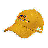 Adidas Gold Structured Adjustable Hat-ASU Alabama State University