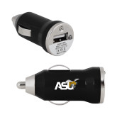 On the Go Black Car Charger-Official Logo