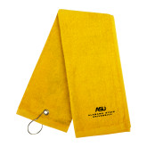 Gold Golf Towel-ASU Alabama State University
