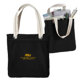 Allie Black Canvas Tote-ASU Alabama State University