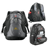 Wenger Swiss Army Tech Charcoal Compu Backpack-ASU Alabama State University