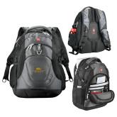 Wenger Swiss Army Tech Charcoal Compu Backpack-ASU Alabama State University