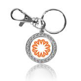 Crystal Studded Round Key Chain-Spark