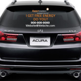 Full Color Extra Large Side/Rear White Window Decal-I Get Free Energy Do You