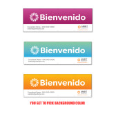 2 x 6 Banner-Spanish Welcome Sign