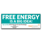 3 x 8 Banner-Free Energy Is A Big Idea, Personalized