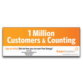 3 x 8 Banner-1 Million Customers, Personalized