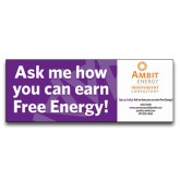 3 x 8 Banner-Ask Me How, Personalized